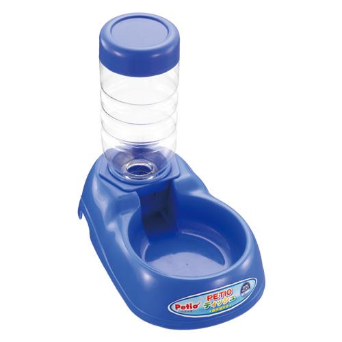 ペティオ ディッシュ 送料無料新品 数量限定 給水器付 450ml ブルー