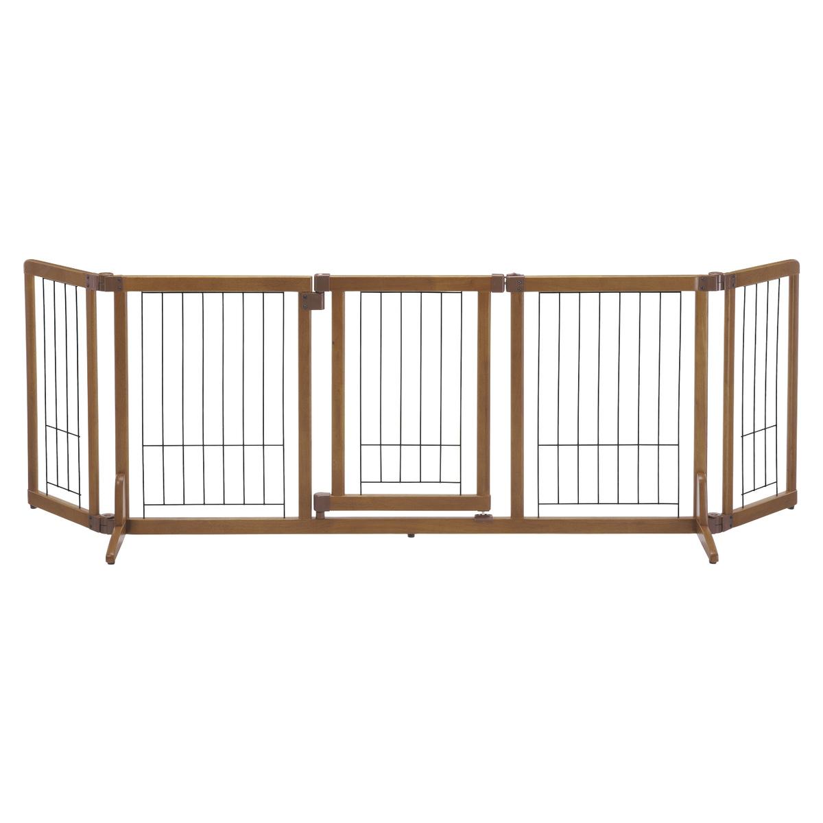 【大型便・時間指定不可】リッチェル ペット用 木製おくだけドア付ゲート L ブラウン BR