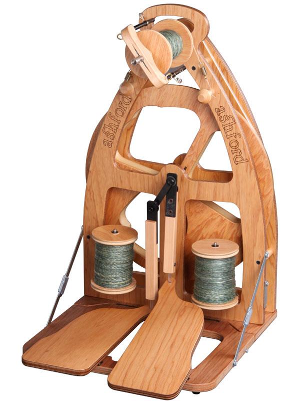 アシュフォード ジョイ・ダブルペダル紡毛機 ラッカー塗装 バッグ付き【紡ぎ車 紡ぎ 染め 羊毛 フェルト 糸 綿 ウール】