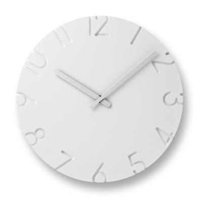 ◆新生活応援!ポイント10倍!◆【デザイン:寺田尚樹】Lemnos(レムノス)インテリアクロックCARVED
