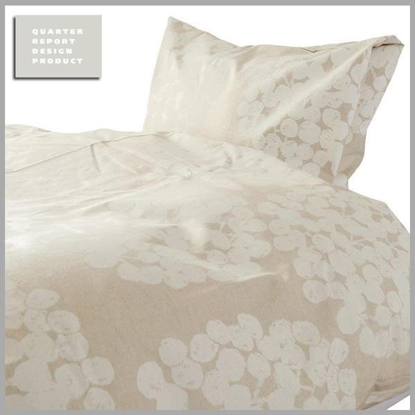 ◆マラソン!ポイント10倍!◆QUARTER REPORT(クォーターリポート)Comforter Case【コンフォーターケース】Float (フロート) 色:アイボリーQサイズ 210×210【デザイン:岡理恵子】