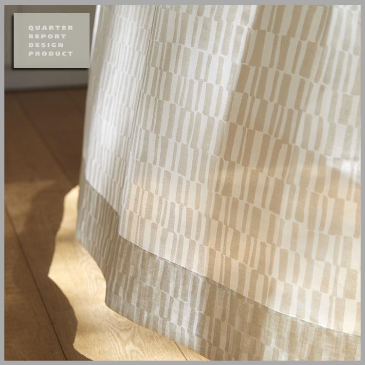 ◆新生活応援!ポイント10倍!◆【送料無料!】【smtb-TK】QUARTER REPORT(クォーターリポート)LaceCurtain【レースカーテン】Lace Tile(レースタイル)150×198cm(2枚1組)セット販売 色:ホワイト【interiorカーテン】