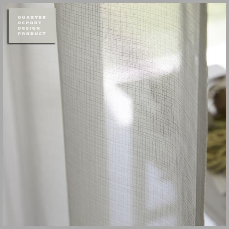 ◆新生活応援!ポイント10倍!◆【送料無料!】【smtb-TK】QUARTER REPORT(クォーターリポート)LaceCurtain【レースカーテン】Lace Fino(レースフィーノ)100×176cm(2枚1組)セット販売色:ホワイト 【interiorカーテン】