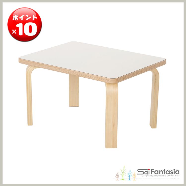 ◇ポイント10倍◇【佐々木敏光 Sdi Fantasia】日本製TABLE 【テーブル】Carota-table カロタ・テーブルフレーム色:ナチュラル 天板色:ホワイト