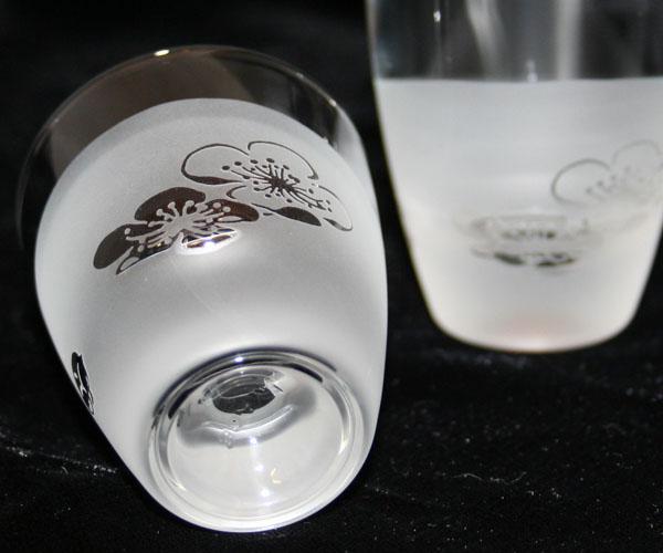 ◆特選!ポイント20倍!◆ペアぐい呑みグラスサンドブラスト加工