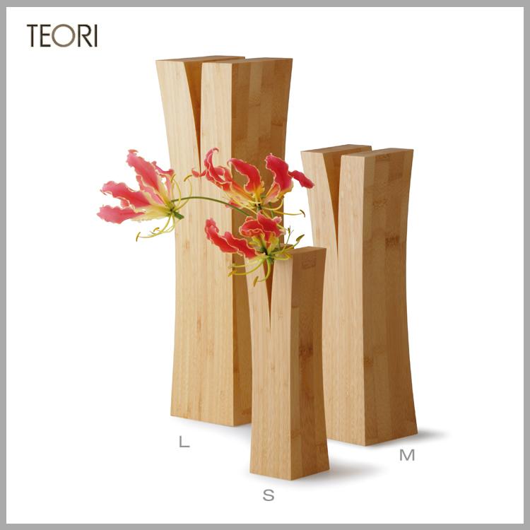◆マラソン!ポイント10倍!◆TEORI(テオリ) 竹集成材プロジェクト一輪挿しLIN Mサイズ