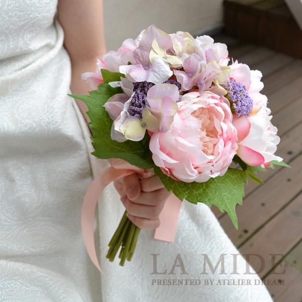 結婚 式 ブーケ 造花