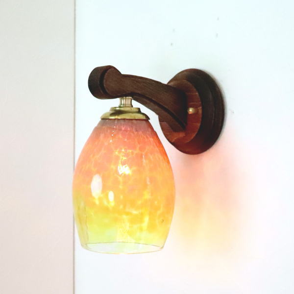 ブラケットライト 壁掛け照明 ブラケットランプ fc-ww016g-frit-irisyellow-no1 Azzurro Glass Studio