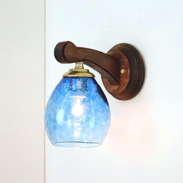 ブラケットライト 壁掛け照明 ブラケットランプ fc-ww016g-frit-blue-no10 Azzurro Glass Studio