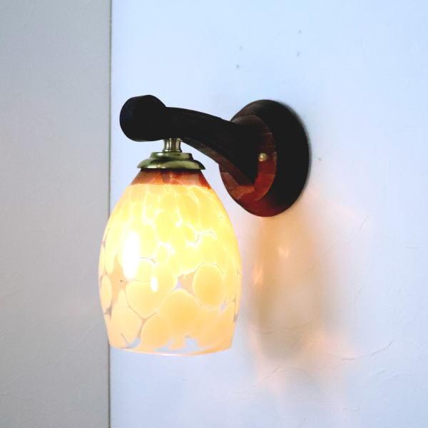 ブラケットライト 壁掛け照明 ブラケットランプ fc-ww016g-frit-mustard-no2 Azzurro Glass Studio