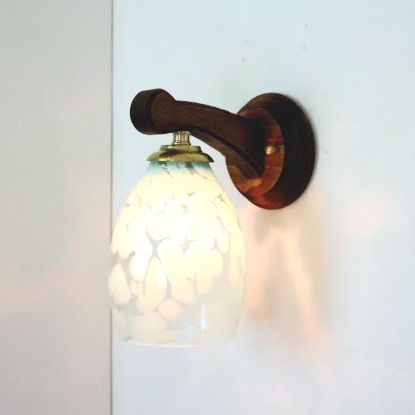 ブラケットライト 壁掛け照明 ブラケットランプ fc-ww016g-frit-saradongreen-no3 Azzurro Glass Studio