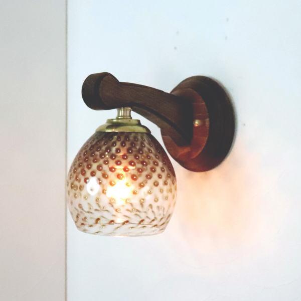 ブラケットライト 壁掛け照明 ブラケットランプ fc-ww016g-dot-brown-no5 Azzurro Glass Studio