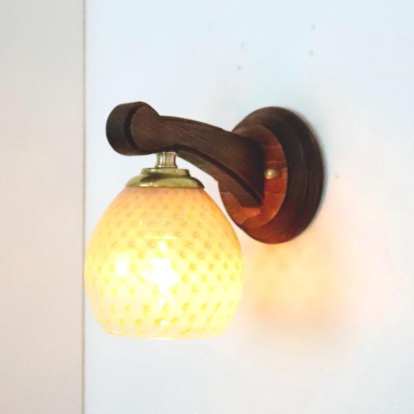 ブラケットライト 壁掛け照明 ブラケットランプ fc-ww016g-dot-irisyellow-opaline-no8 Azzurro Glass Studio