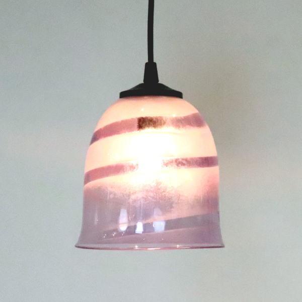 ペンダントライト ペンダントランプ ライト ランプシェード purple カフェ風ランプ 照明 uzu-purple-no18 Azzurro Glass Studio 東敬恭