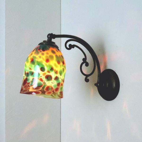 ブラケットライト 壁掛け照明 ブラケットランプ fc-w10ay-az-no20b Azzurro Glass Studio