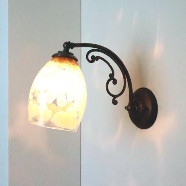 ブラケットライト 壁掛け照明 ブラケットランプ fc-w10ay-frit-mustard-no2 Azzurro Glass Studio