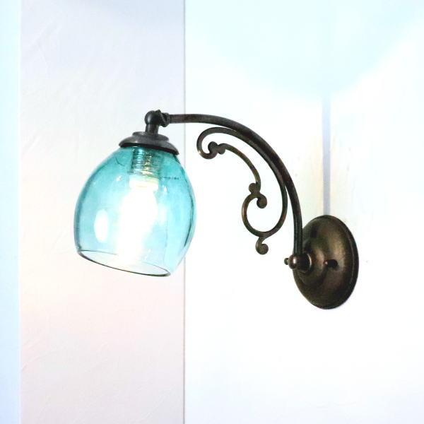 ブラケットライト 壁掛け照明 ブラケットランプ fc-w10ay-frit-tourmaline-no9 Azzurro Glass Studio