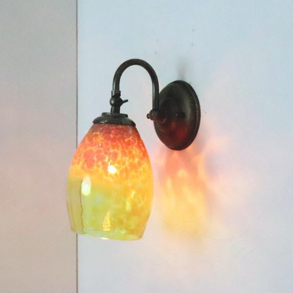ブラケットライト 壁掛け照明 ブラケットランプ fc-w004-frit-irisyellow-no1