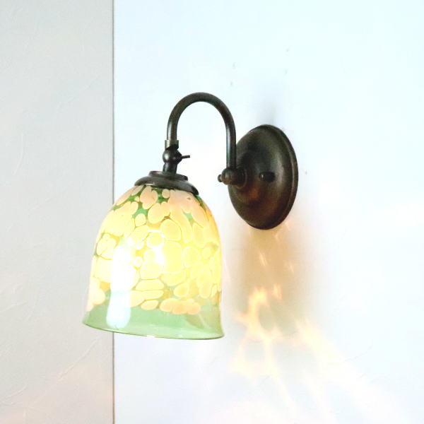ブラケットライト 壁掛け照明 ブラケットランプ fc-w004-bell-emerald-ivory-no17