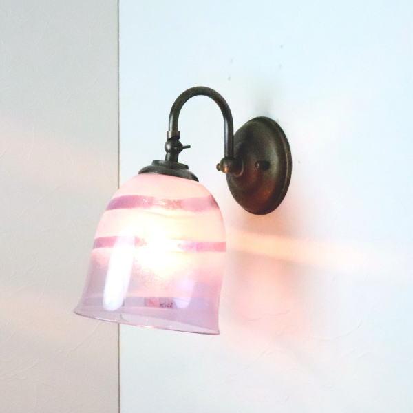 ブラケットライト 壁掛け照明 ブラケットランプ fc-w004-uzu-purple-no18