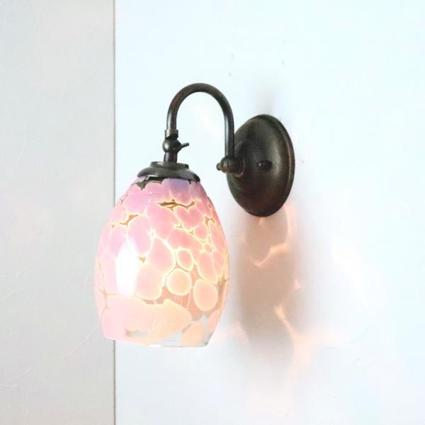 ブラケットライト 壁掛け照明 ブラケットランプ fc-w004-frit-violet-smokedgreen-no4