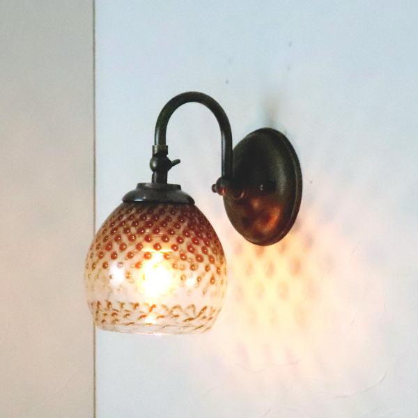 ブラケットライト 壁掛け照明 ブラケットランプ fc-w004-dot-brown-no5