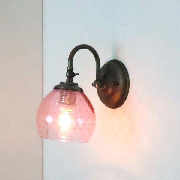 ブラケットライト 壁掛け照明 ブラケットランプ fc-w004-dot-pink-no6