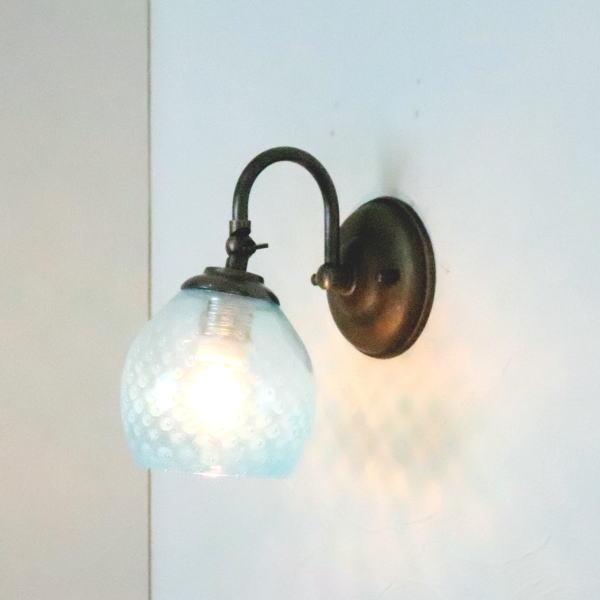 ブラケットライト 壁掛け照明 ブラケットランプ fc-w004-dot-aqua-blue-no7