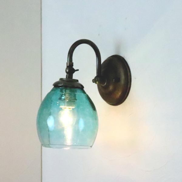 ブラケットライト 壁掛け照明 ブラケットランプ fc-w004-frit-tourmaline-no9