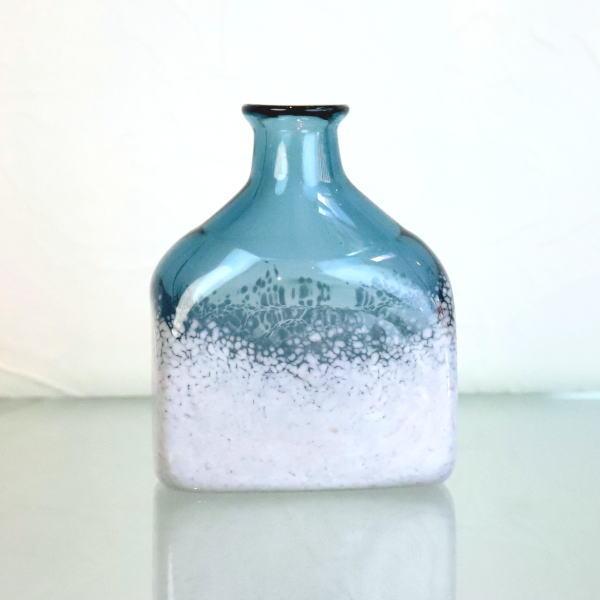 花瓶 ボトル Flowerbase アロマディフューザーボトル keshiki-bottle-steelblue-lightgray Azzurro Glass Studio 東敬恭