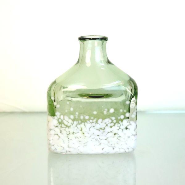 花瓶 ボトル Flowerbase アロマディフューザーボトル keshiki-bottle-smokedgreen-ivory Azzurro Glass Studio 東敬恭