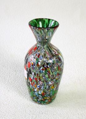 花瓶 flowervase diec13green 輸入インテリア小物 ベネチアングラス、イタリア製