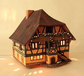 ランプハウス インテリアランプ 卓上ランプ リトアニア製 ミニチュアハウス mid370ar