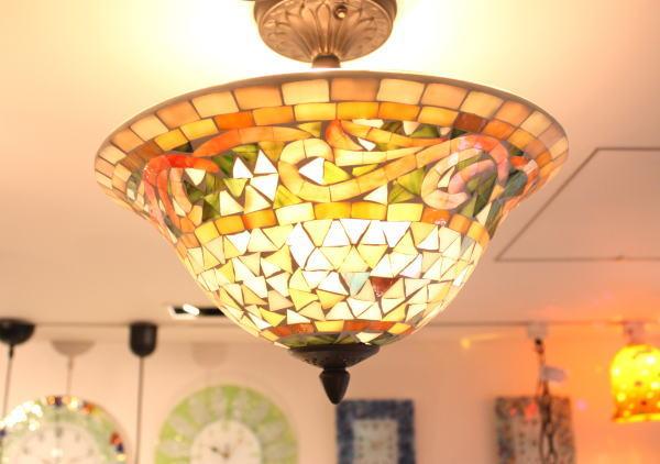 da8780-3ltf シーリングランプ 照明 モザイクガラスのランプペンダントランプ