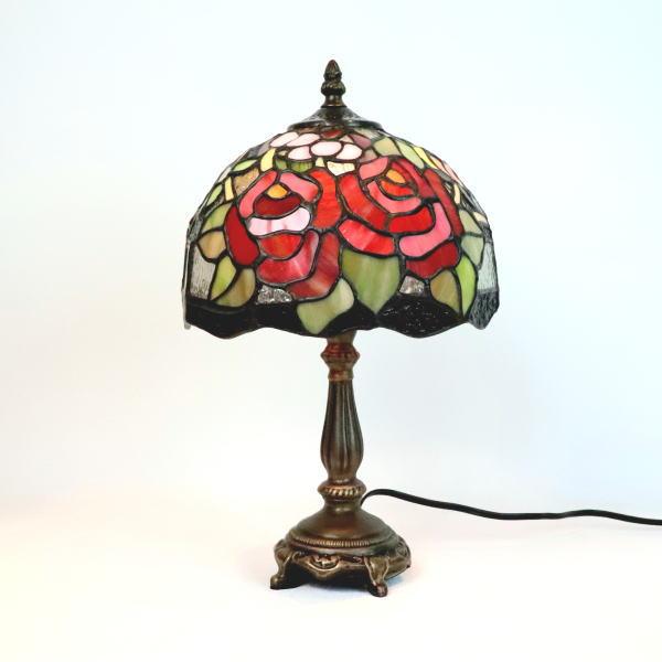 ステンドグラス ランプ ステンドグラスランプ テーブルランプ 薔薇 クラシックローズ 689201