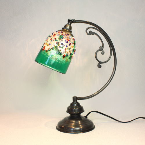 dd10ay-fantasy-goto-green ベネチアングラスランプ ベネチアンガラス 照明 テーブルランプ 卓上ランプ イタリア製