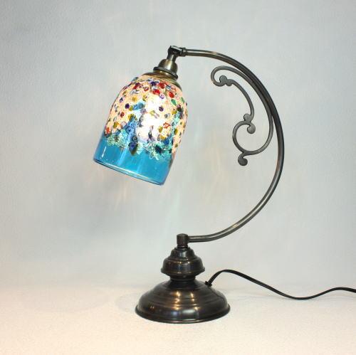 dd10ay-fantasy-goto-lightblue ベネチアングラスランプ 照明 テーブルランプ 卓上ランプ イタリア製