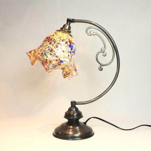 dd10ay-fazoletto-amber ベネチアングラスランプ 照明 テーブルランプ 卓上ランプ イタリア製
