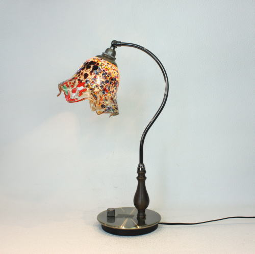 fc-570ay-fazoletto-amber ベネチアングラスランプ 照明 テーブルランプ 卓上ランプ イタリア製
