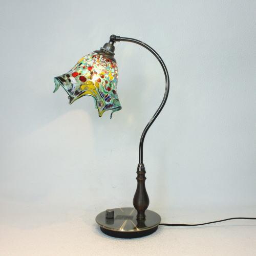 fc-570ay-fazoletto-lightblue ベネチアングラスランプ 照明 テーブルランプ 卓上ランプ イタリア製