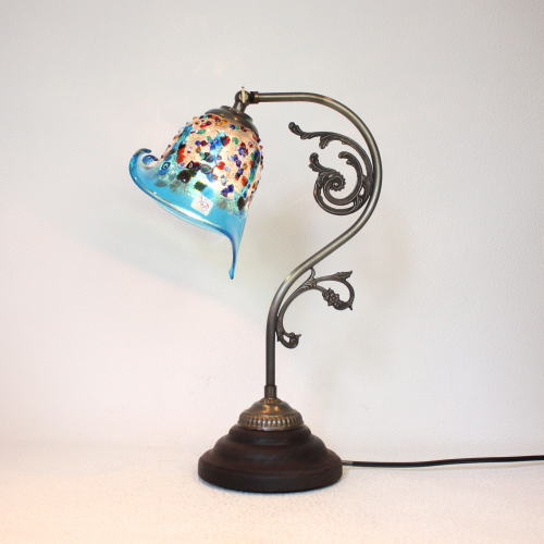 fc-600a-fantasy-calla-lightblue ベネチアングラスランプ 照明 テーブルランプ 卓上ランプ イタリア製