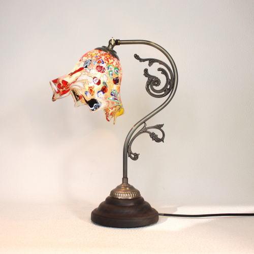 fc-600a-fazoletto-amber ベネチアングラスランプ 照明 テーブルランプ 卓上ランプ イタリア製