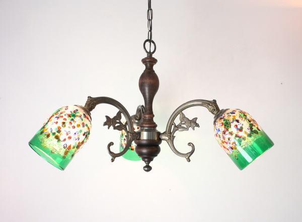 ベネチアンシャンデリア 照明 イタリア製 fc-621-fantasy-goto-green