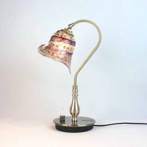 fc-210g-calla-sbruffo-amethyst-amberベネチアングラスランプ 照明 テーブルランプ 卓上ランプ イタリア製