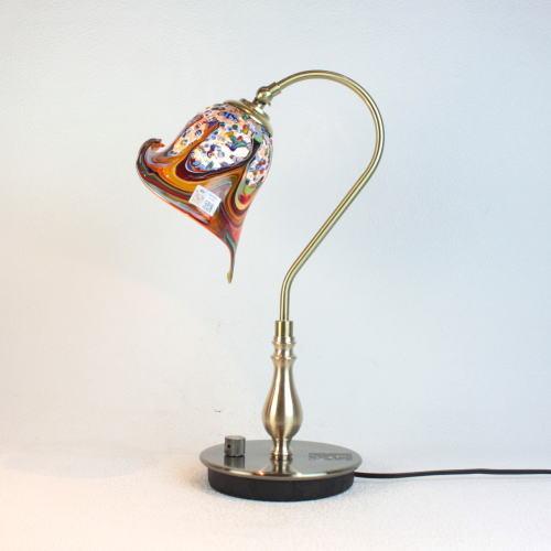 ベネチアングラスランプ 照明 テーブルランプ 卓上ランプ イタリア製 fc-210g-fan-calla-arlecchino