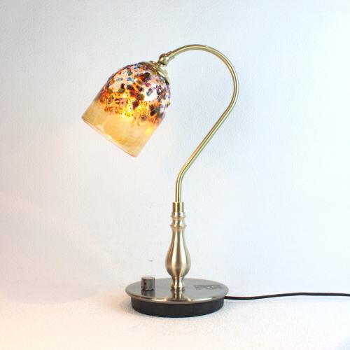 ベネチアングラスランプ 照明 テーブルランプ 卓上ランプ イタリア製 fc-210g-fantasy-goto-amber