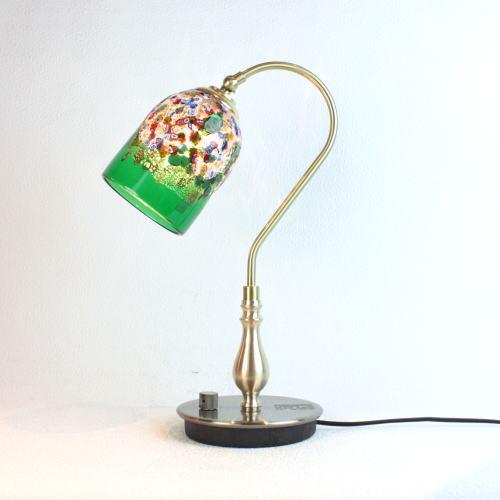 ベネチアングラスランプ 照明 テーブルランプ 卓上ランプ イタリア製 fc-210g-fantasy-goto-green