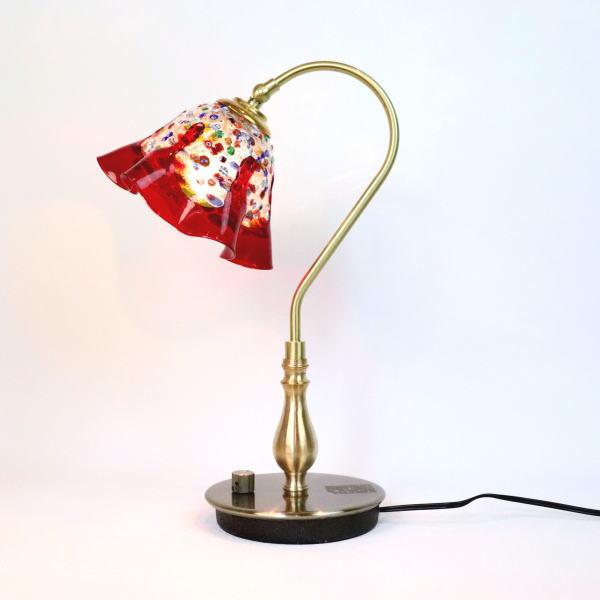 ベネチアングラスランプ 照明 テーブルランプ 卓上ランプ イタリア製 fc-210g-fantasy-smerlate-red