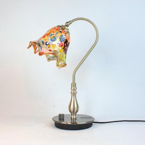 fc-210g-fazoletto-amber ベネチアングラスランプ 照明 テーブルランプ 卓上ランプ イタリア製