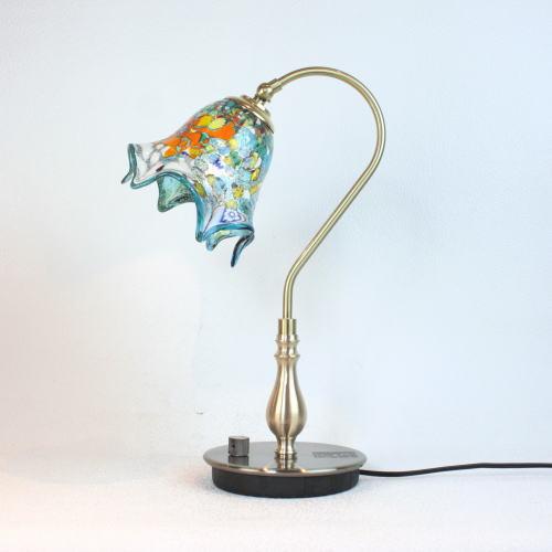 fc-210g-fazoletto-lightblue ベネチアングラスランプ 照明 テーブルランプ 卓上ランプ イタリア製